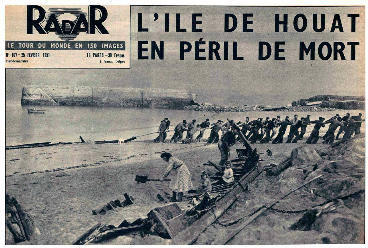 La destruction du port d'Er-Beg dans Radar, 1951